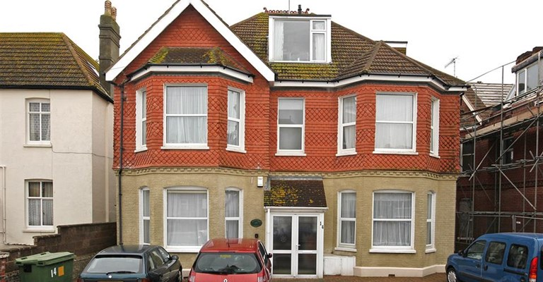 Front exterior of Beachside, Worthing